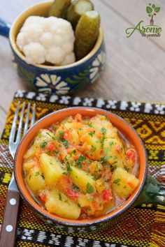 Potato Recipes, Lunch Recipes, Vegetable Recipes, Vegetarian Recipes, Cooking Recipes, Healthy Recipes, Helathy Food, Romania Food, Ham Salad