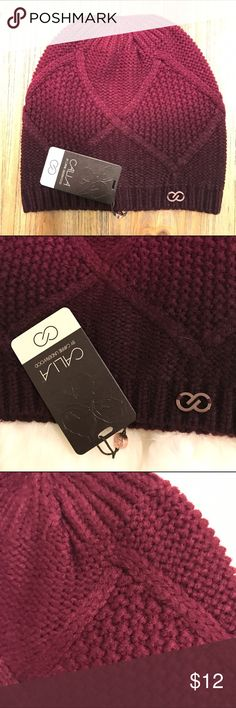 Beanie new color merlot/wine tasting NEW This Beanie has a beautiful color. The top is lighter and becomes darker as you can see in the photos. It is 100% Acrylic. CALIA by Carrie Underwood Accessories Hats