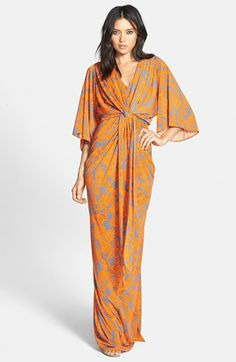 Filtre Print Kimono Maxi Dress available at #Nordstrom @Cath too much for a summer wedding?