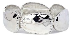 Oval Disk Silver Bracelet.  Item #PB0106RD  Available at Impulse Gifts 812.481.2880 We ship daily.   https://www.facebook.com/ImpulseJasper
