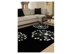Teppich Polypropylen Fireworks – 120 x 170 cm oder 160 x 230 cm , 100 % Polypropylen, Schwarz & Weiß, modernes Design. Pflegeleicht & Resistent. Zum Discountpreis bei Kauf-Unique.de