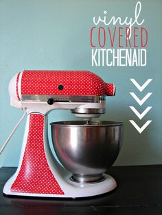 vinyl covered kitchenaid how to - cutting machine not required