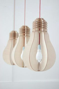Suspension en carton | Cardboard Light Bulbs | #spreadthelight