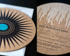 this is so beautiful: Letterpress Coaster Invite on Kraft