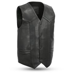 First Manufacturing Tombstone Vest Mens Leather Waistcoat, Motorcycle Leather Vest, Biker Leather, Cowhide Leather, Leather Men, Black Biker Jacket, Biker Vest, Western Vest