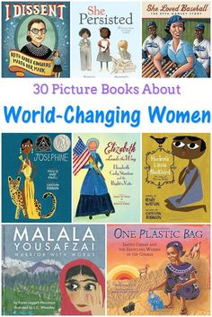 30 Picture Books About World-Changing Women - Feminist Books for Kids These books about world-changing women are perfect for Women's History Month or International Women's Day. Learn more about women who changed the world! Good Books, My Books, Books For Girls, Story Books, Feminist Books, Kids Reading, Reading Lists, Reading Fluency, Kindergarten Reading