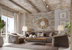 Álomotthonok: kő fa földszínek természetes anyagok mediterrán hangulat egy kétszintes ház csodás belső tereiben