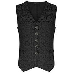 Darkrock Mens Vest Waistcoat Gothic Steampunk Victorian