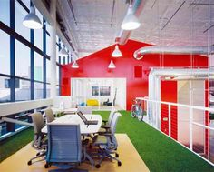 An employee office at Googleplex, the Google HQ in Mountain View, CA