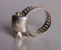 A hose cl& ring! Itu0027s definitely a conversation piece. & 38 best Stainless Steel Hose Clamps images on Pinterest | Clamp ...
