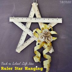 A Ruler Star - for the teacher (or math lover) in your life - Suburble
