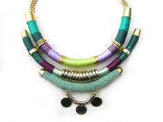 Native inspired chocker necklace tribal bohemian por tashtashop