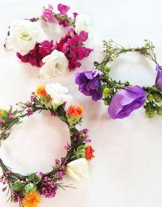 DIY: Fresh Flower Birthday Hat / The Sweet Escape