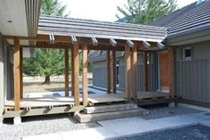 covered walkway from carport to house Garage Design, Exterior Design, House Design, Bungalow, Glass Walkway, Covered Walkway, Garage Addition, Garage Remodel, Bath Remodel