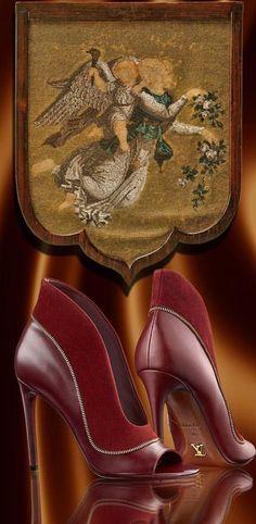 Marsala red inspo ~ Louis Vuitton shoes