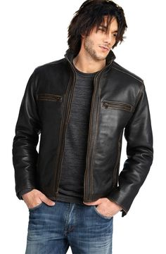 Look Stylish in Trendy Men s Leather Jackets - Leather Clothes ... Formal  Shoes For 23a615f26e