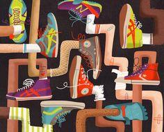 Sneaker pattern design