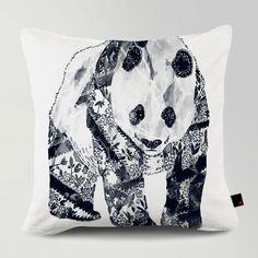TATTOOED PANDA / Designed by Tobe Fonseca / Made by OneRevolt.com / #쿠션 #원리볼트 #인테리어 #홈데코 #판다 #문신 #tattoo #panda #design #cushion