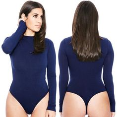 96e0a8dd462 New Summer Women Crew Neck Long Sleeve Bodycon Jumpsuit Romper Womens  Jumpsuit Tops Elastic Slim Jumpsuit Short Bodysuit-in Bodysuits from Women s  Clothing ...