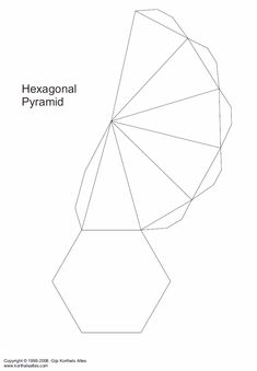Net hexagonal pyramid