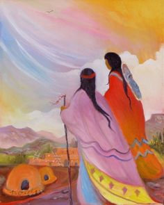 Paintings by Marilu: Vibrant Spirits of the Southwest Working with a vibrant palette using a variety of media, Marilu Norden invites the viewer to Native American Paintings, Native American Artists, Native American History, Native American Indians, Modern Indian Art, American Indian Art, Mexican Paintings, Indian Paintings, Southwestern Art
