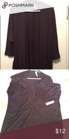 Jo & Co maroon/purple cardigan Lightweight maroon/ purple cardigan, 1/2 sleeve jo & co Sweaters Cardigans