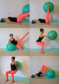 Stability Ball Total Leg Workout