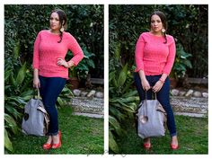 Coral Bliss #outfit #fashionblogger #curvy