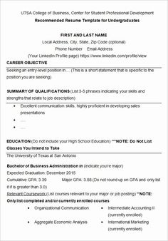 College Application Resume Template Free from i.pinimg.com