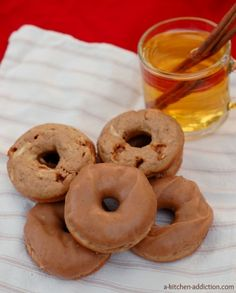 Cider Glazed Caramel Apple Donuts