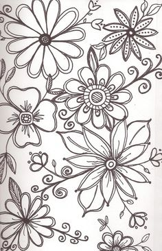 Floral doodles.