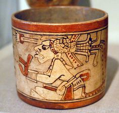 Ancient Maya painted vase from the Motagua Valley region of Guatemala, May collection, St Louis