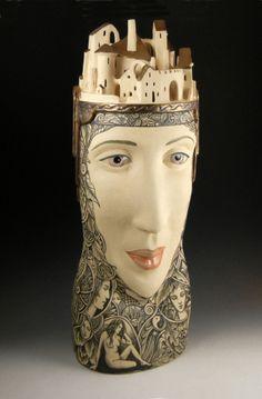 Gemini, ceramic, Pat Stern