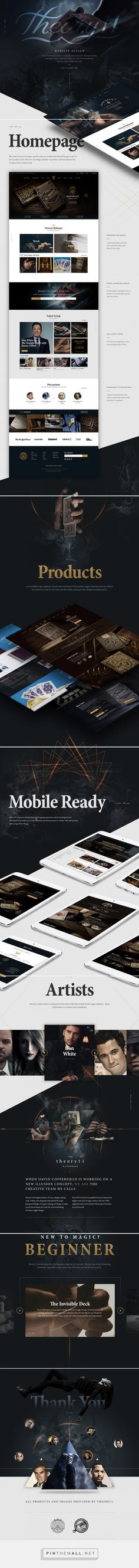 theory11 Website on Behance - created via https://pinthemall.net