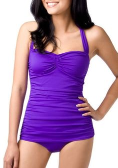 Bathing Beauty One Piece in Violet | Mod Retro Vintage Bathing Suits | ModCloth.com - StyleSays