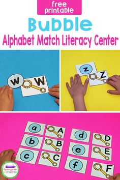 Bring some alphabet learning fun into the Pre-k & Kindergarten classroom with this free Bubble Alphabet Match Activity! This easy-prep, hands-on free learning printable is perfect for spring, summer, or basically any time when you want some extra fun in your literacy centers! Literacy Skills, Kindergarten Literacy, Kindergarten Activities, Literacy Centers, Classroom Activities, Upper And Lowercase Letters, Lower Case Letters, Fun Learning, Teaching Kids