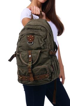 #Canvas Heavy Duty School #Backpack