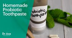 This homemade probiotic toothpaste recipe cleans your teeth, helps to detoxify your mouth and finishes with a cooling sensation! Try it today! Toothpaste Recipe, Homemade Toothpaste, Best Probiotic Foods, Gum Inflammation, Homemade Body Care, Natural Cleaning Products, Diy Products, Homemade Products