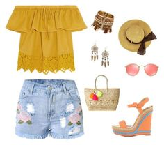 """""""Sin título #223"""" by clau2499 on Polyvore featuring moda, Madewell, Christian Louboutin, Lilly Pulitzer, Ray-Ban y Boohoo"""