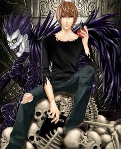 Ryuk and Light Yagami        _Death Note