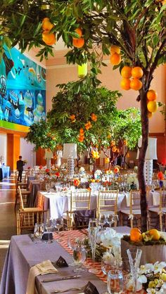 Resultado de imagen de orange tree wedding decoration