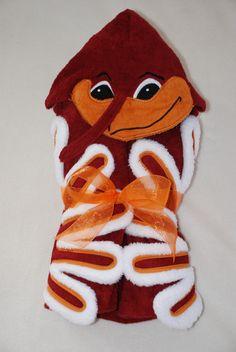 Hokie Bird Hooded Towel - what a fantastic gift for any Virginia Tech Hokie fan!!