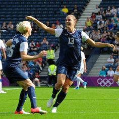 Alex Morgan, the 23-year-old striker scored two goals as the USA became the first team in Olympic women's soccer history to win a game after trailing 2-0