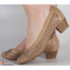 Pantofi din piele bej office dama/dame/femei (cod 216201)