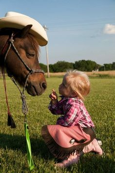 Dressed up pony getting instructions. Adorable!