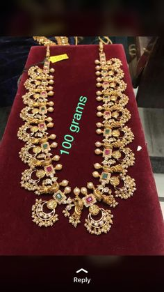 Saree Jewellery, Gold Jewellery, Jewlery, Indian Wedding Jewelry, Bridal Jewelry, Vaddanam Designs, Bold Necklace, Emerald Jewelry, India Jewelry