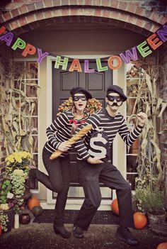 french burglar robber Halloween couple costume