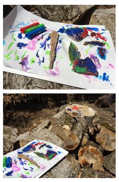 Check out these projects done by Helen Ellis using Kwik Stix! These Solid Tempera Paint Sticks work great on wood, leaves, and rocks too!