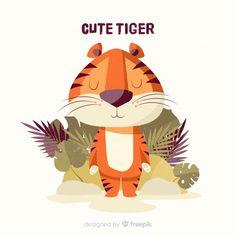 Cute Tiger Cubs, Cute Tigers, Cartoon Tiger, Cartoon Logo, Emoji Set, Tiger Illustration, Year Of The Tiger, Cute Lion, Kids Pillows