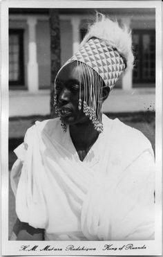 Africa | Portrait of H.M. Mutara Rudahigwa, former King of Rwanda | Photographer unknown